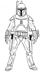 Star Wars Coloring Page Star Wars Star Wars Fett Coloring Pages