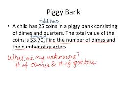 s of systems of linear equations i e word problems 2 piggy
