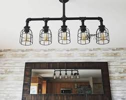Image Cheap Industrial Lighting Rustic Kitchen Island Ceiling Light Ul Listed Modern Industrial Edison Bulb Kitchen Chandelier Farmhouse Lighting Etsy Farmhouse Lighting Etsy
