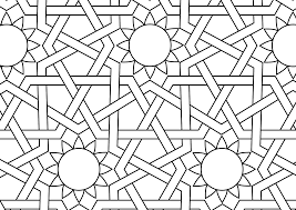 Free Mosaic Patterns To Print Coloring Page Printable Islamic Color