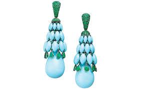 de grisogono s melody of colours chandelier earrings