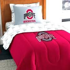 ohio state bed sets buckeyes comforter pillowcase college b on ohio state bedding set university queen