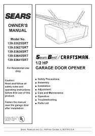 sears garage door installationGarage Doors  Sears Craftsman Garage Door Opener Manual Beautiful