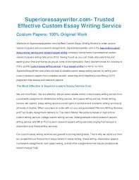 Custom Essays Service Superioressaywriter Com Trusted Effective Custom Essay Writing Service