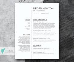 Plain And Simple A Nice Simple Word Resume Template Free Career