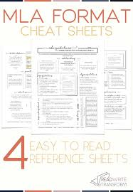 Updated 2019 Mla 8 Format Cheat Sheet Middle School Informative