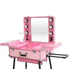 mobile professional aluminum cosmetic case with light kiss beauty cosmetics vanity makeup studio sc 1 st mugeek vidalondon
