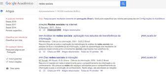 google universitario artigos cientificos