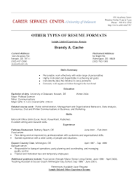 Example Of Resume Work Experience Examples Of Resumes
