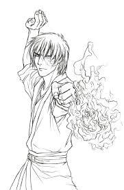 Prince Zuko By Demon Of Nirvana Lineart Avatar Last Airbender
