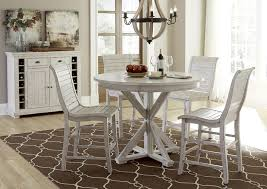 progressive furniture willow dining 5 piece round counter height table set northeast factory direct pub table and stool sets cleveland eastlake