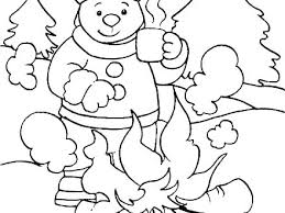 Winter Coloring Pages Printable Winter Coloring Pages For Toddlers