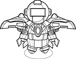 Small Picture Free robot coloring pages for kids ColoringStar