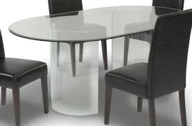 Oval Kitchen Table Sets Round Glass Dining Table 4 Nice Photos Glass Dining Table Round