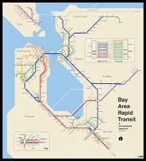bay area  the bart metro map – future travel