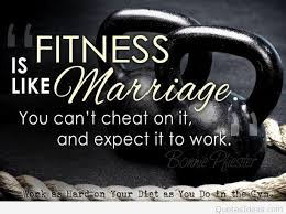 fitness is like marriage quote bonnie p