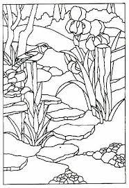 flower in round panel
