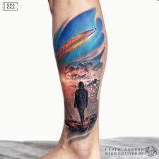 серго акопян тату на ноге Tattoo Magnum