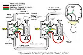 wiring two switches data wiring diagrams \u2022 Wiring Multiple Amplifiers Diagram how to install a 3 way switch option 1 the home improvement web in 2 rh wellread me wiring two switches in parallel wiring two switches for stairs