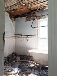 during demo our contractor moved it out into the bedroom which is where it lived for over half a year as destruction and reconstruction went on around it