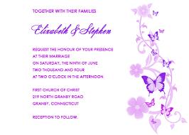 Wedding Invitations Templates Purple Butterflies Wedding Invitation Lavender And Purple Wedding