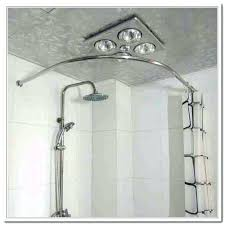 cool l shaped shower curtain rod shaped bathroom curtain rods