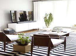 black and white striped rug. black and white striped area rug for living room plus mid century accent chairs
