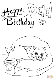 Small Picture Happy Birthday Dad coloring page Free Printable Coloring Pages