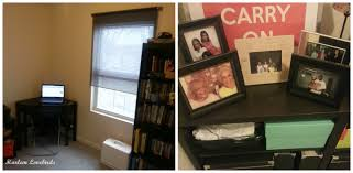 Finished office makeover Bookshelves The Roller Shade Was Leftover From Our Last Harlem Apartment And Weve Since Replaced The Bookshelf Harlem Lovebirds Harlem Lovebirds Young House Love Inspired Office Makeover
