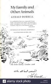 title page for book title page of book by gerald durrell my family other animals the