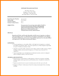 Border Agent Sample Resume