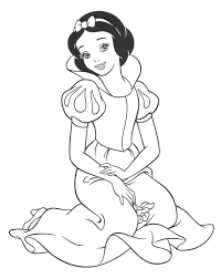Coloring Pages Interesting Snow White Color Baby Snow White