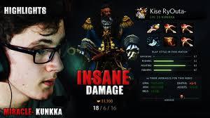miracle dota 2 play kunkka item build insane damage youtube