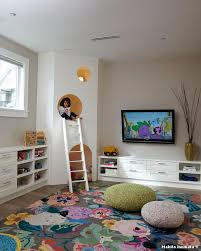 kids area rugs with transitional kids and nook hiding space ladder colorful area rug wall mounted tv