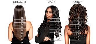 Straight Hair Length Chart Straight Hair Weave Lengths