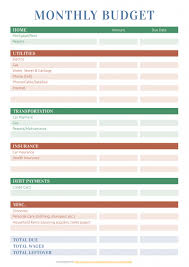 Create A Budget Worksheet Printable Budget Templates Download Pdf A4 A5 Letter Size