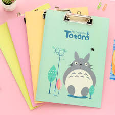 clipboard office paper holder clip. Totoro-A4-Clipboard-Pen-Holder-Clip-Board-Office- Clipboard Office Paper Holder Clip E