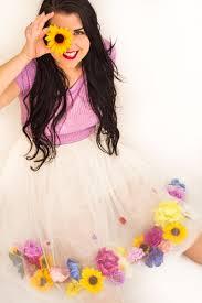 diy flower tulle skirt