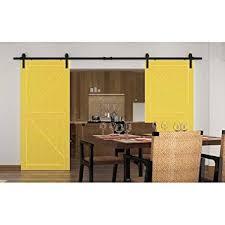 barn sliding garage doors. WINSOON 12FT Black Sliding Roller Barn Double Wood Door Hardware Closet  Track Kit Set (12FT Barn Sliding Garage Doors