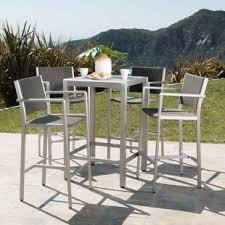 outdoor bar table and chairs. Durbin 5 Piece Bar Height Dining Set Outdoor Table And Chairs Wayfair