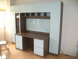 office desk units. Plain Desk Office Desk With Storage Cabinets Are Attached To The Sides And Top  Of Officeworks Throughout Units C