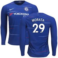 Home Jersey 18 Morata Alvaro 1500248 Fc Shirt Blue Sleeve Men's Premier Soccer Club Long 19 - League Rush 29 Chelsea