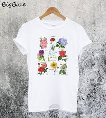 Flower Chart T Shirt Blooms Botanical Flower Floral Chart T Shirt