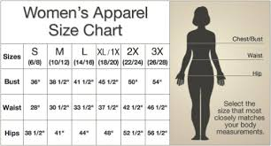 Ltd Update New Size Charts For Womens Apparel