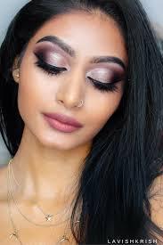half cut crease rose gold smokey makeup tutorial lavish krish