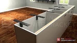 support brackets by the original granite bracket kitchen island countertop overhang