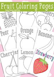Small Picture Fruit Coloring Pages Free Printable Easy peasy and Free printable