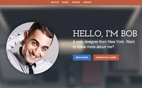 Curriculum Website Template Simple Cv Website Template
