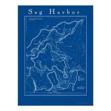 Sag Harbor New York Nautical Chart Poster