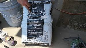 picture of embed tub in mortar